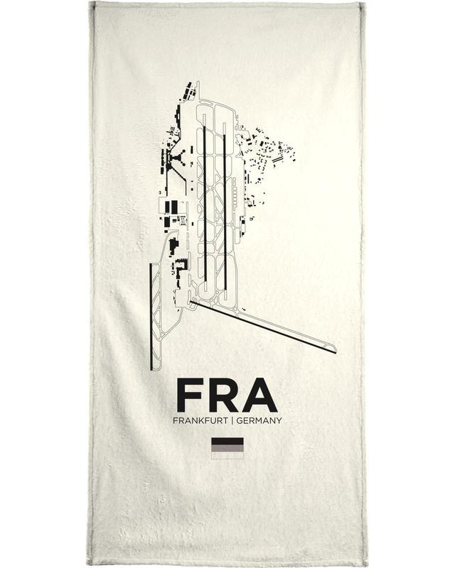 FRA Airport Frankfurt Bath Towel