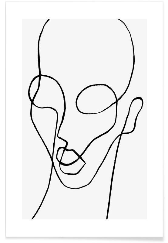 Svart & vit, Porträtt, Shaperalito Poster