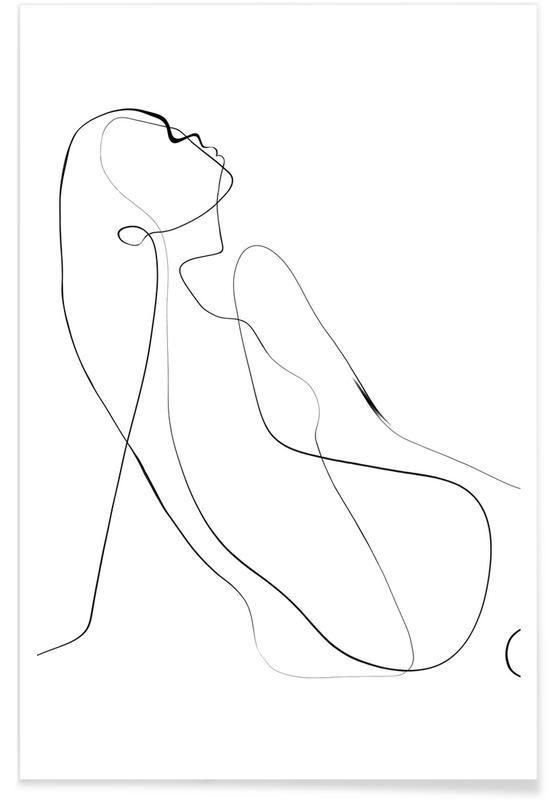 Sort & hvidt, Kroki Plakat