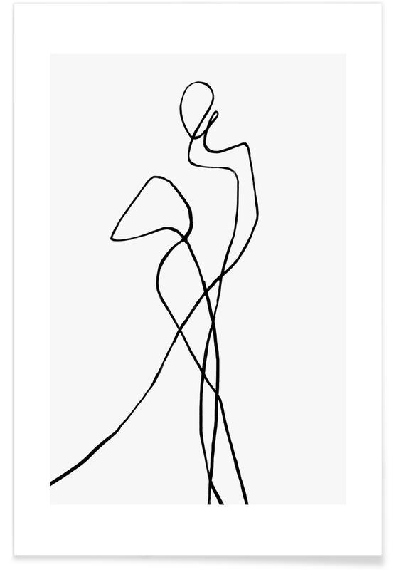 Sort & hvidt, Portofino Plakat