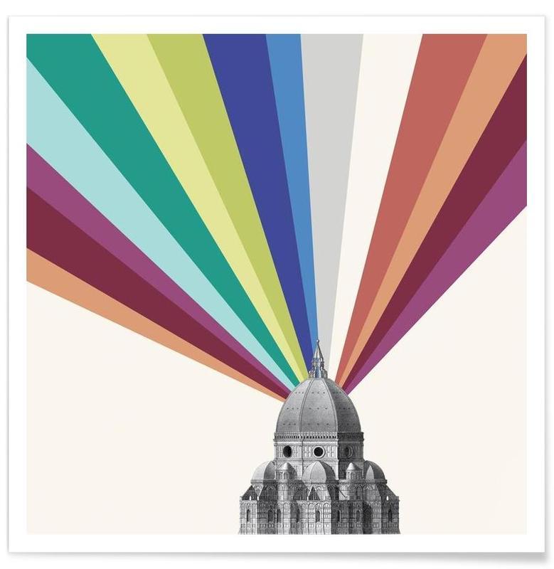 Sehenswürdigkeiten & Wahrzeichen, Tower Rainbow -Poster