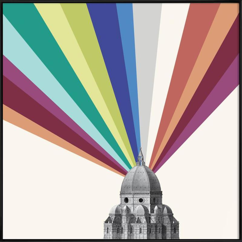 Tower Rainbow Framed Poster