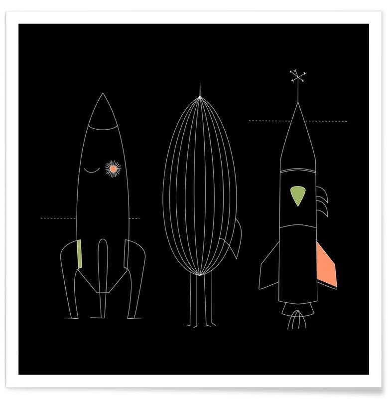 Berge, Wälder, Schwarz & Weiß, Filme, Blätter & Pflanzen, Schmetterlinge, Fische, Ozeane, Meere & Seen, Himmel & Wolken, Raumschiffe & Raketen, Bäume, Bären, Strände, Abstrakte Landschaften, Mond, Rockets -Poster