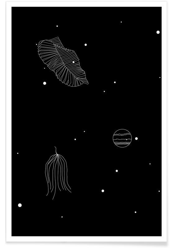 Oceanen, zeeën en meren, Bladeren en planten, Abstracte landschappen, Stranden, Films, Vlinders, Zwart en wit, Beren, Ruimteschepen en raketten, Lucht en wolken, Bossen, Bergen, Vissen, Maan, Bomen, Freckles poster
