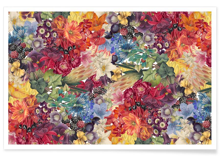 Feuilles & Plantes, Flowers affiche
