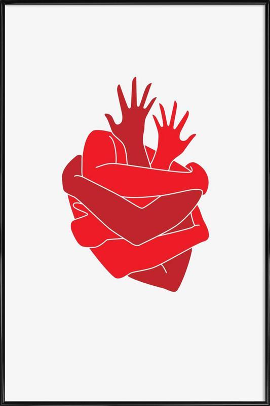 Heart Framed Poster