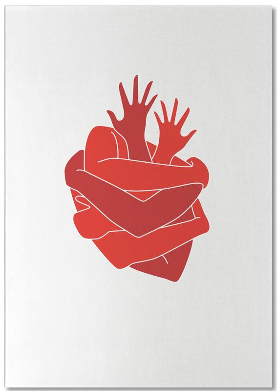 Herzen, Heart -Notizblock