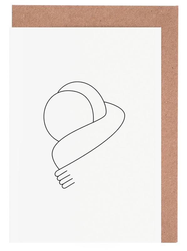 Hug -Grußkarten-Set