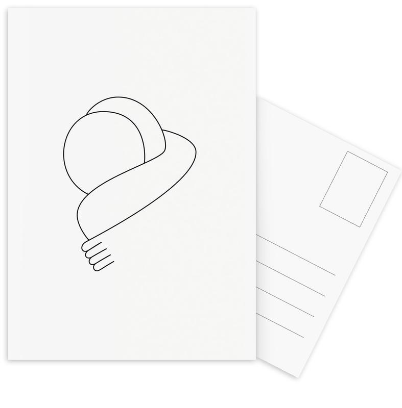 Hug Postcard Set