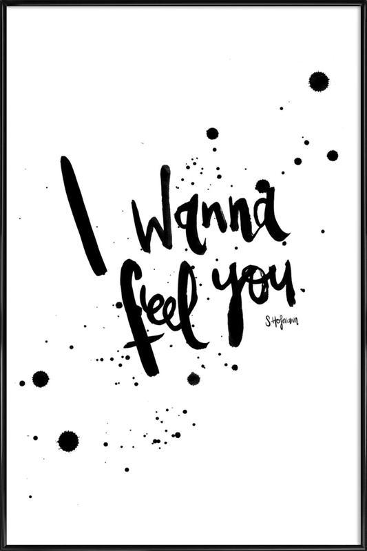 Feel You -Bild mit Kunststoffrahmen