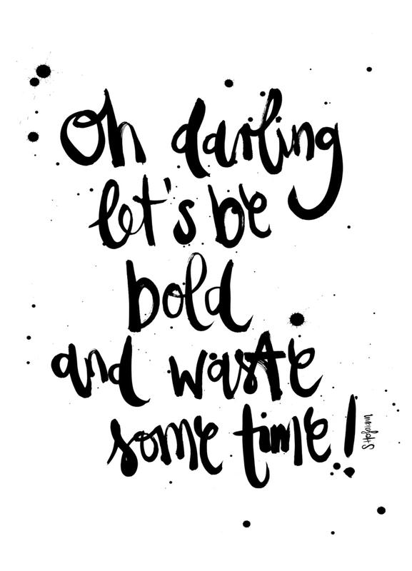 Let's Be Bold -Leinwandbild