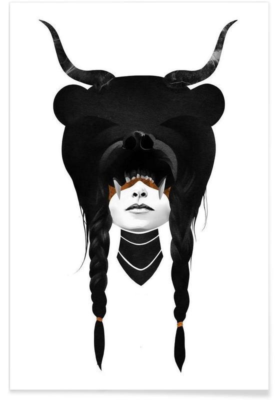Noir & blanc, Bear Warrior affiche