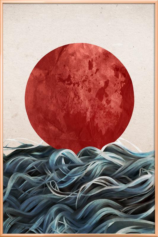 Sunrise in Japan Poster in Aluminium Frame