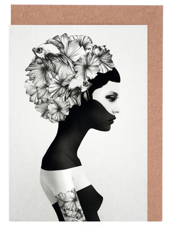 Black & White, Marianna Greeting Card Set