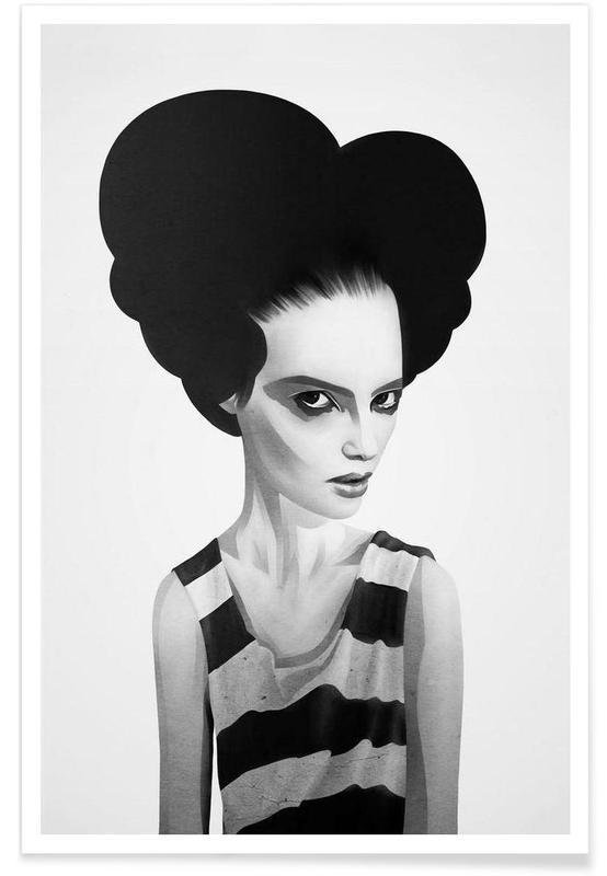 Noir & blanc, Portraits, June affiche