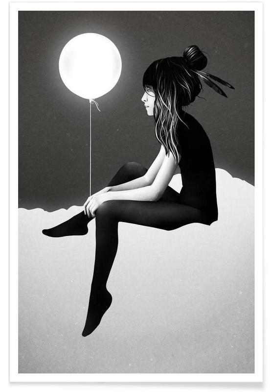 Noir & blanc, No Such Thing As Nothing (by Night) affiche
