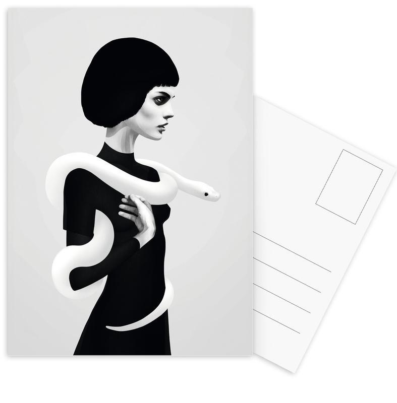Zwart en wit, Only Skin ansichtkaartenset