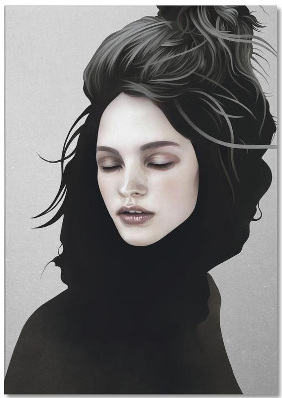 Schwarz & Weiß, Traumwelt, Porträts, Elsewhere Girl -Notizblock