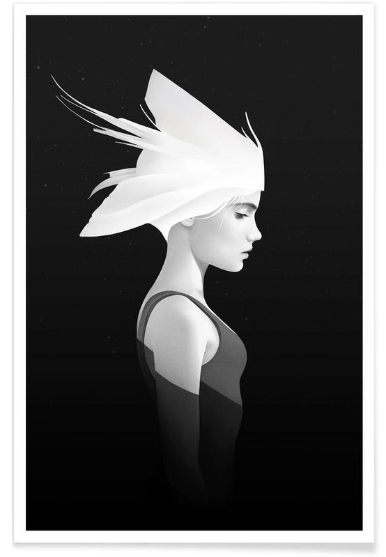 Black & White, Dreamy, Portraits, My Light Poster
