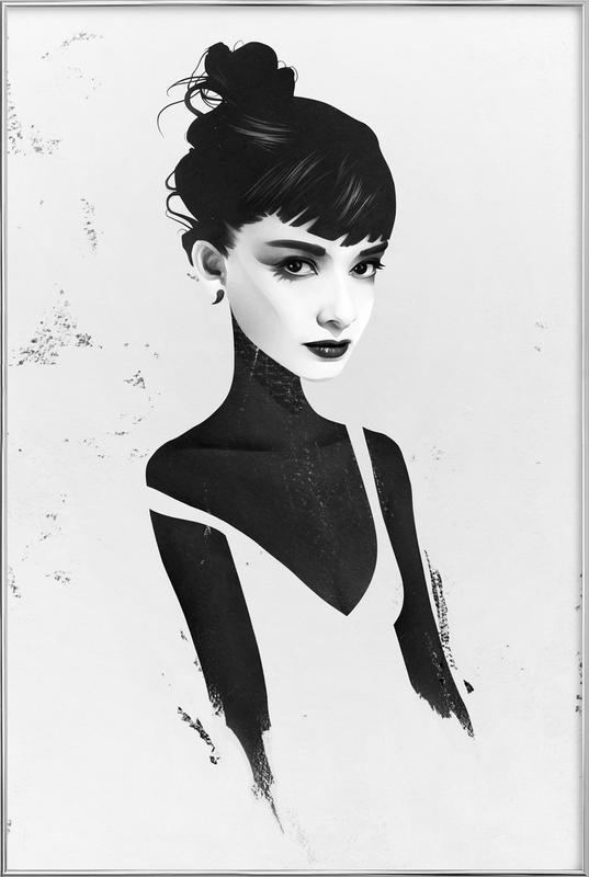 Oh, Audrey -Poster im Alurahmen