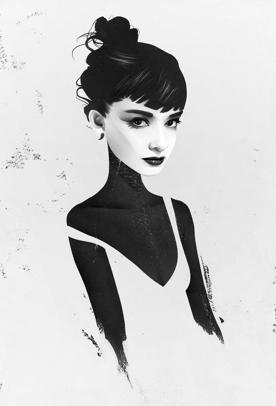 Oh, Audrey Impression sur alu-Dibond