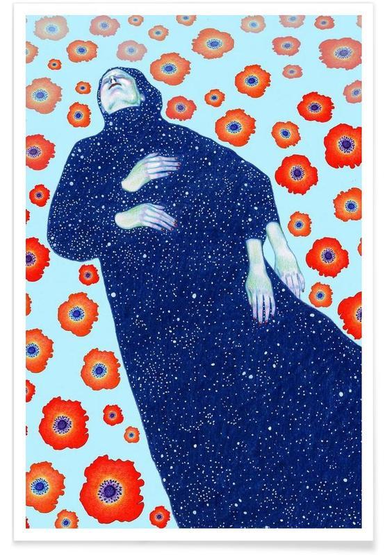 Traumwelt, Mohnblumen, Floating -Poster