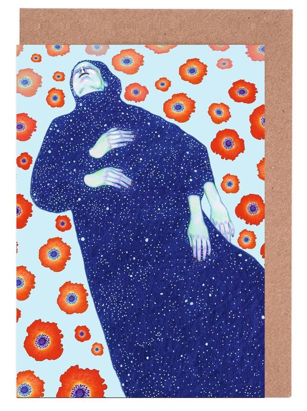 Traumwelt, Mohnblumen, Floating -Grußkarten-Set