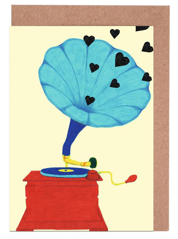, Grammophone Love -Grußkarten-Set