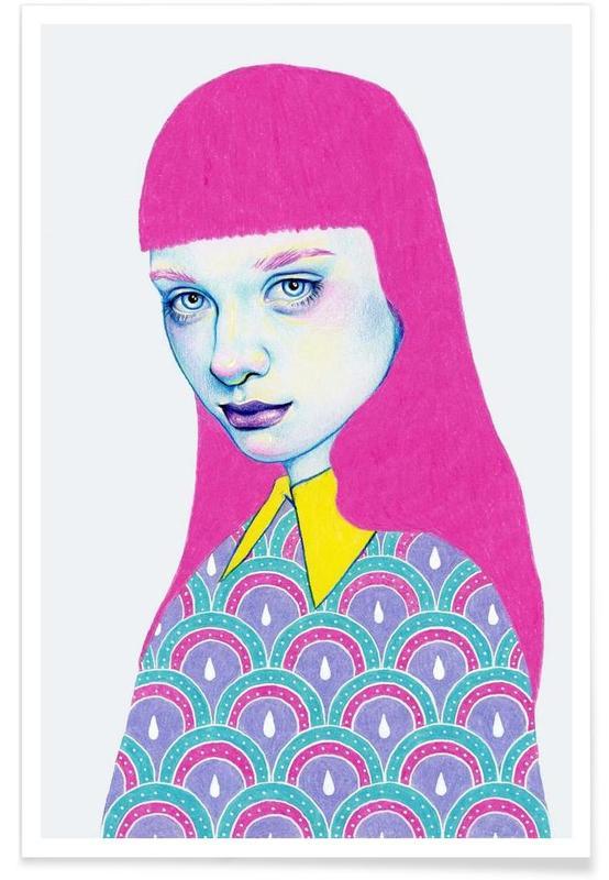 Modeillustration, Porträts, Sugar -Poster