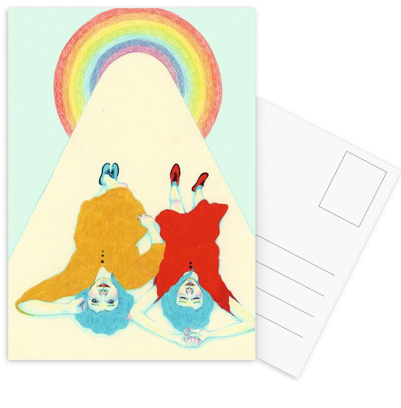 Gruppen, Kinderzimmer & Kunst für Kinder, Dreamers -Postkartenset