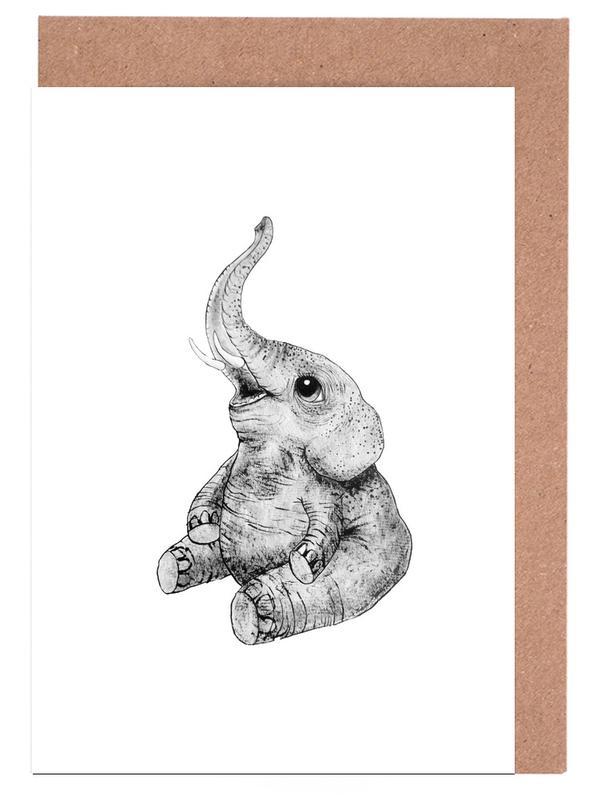 Elephant cartes de vœux
