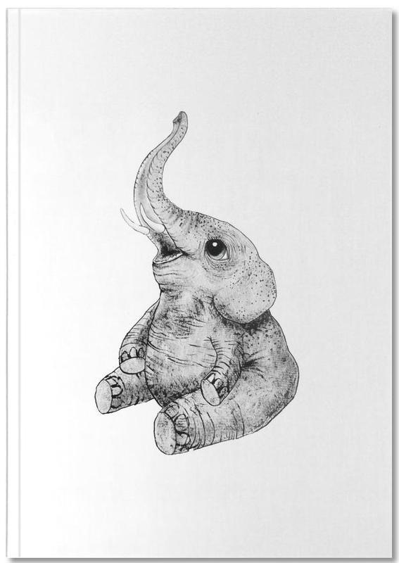 Zwart en wit, Olifanten, Kunst voor kinderen, Elephant Notebook