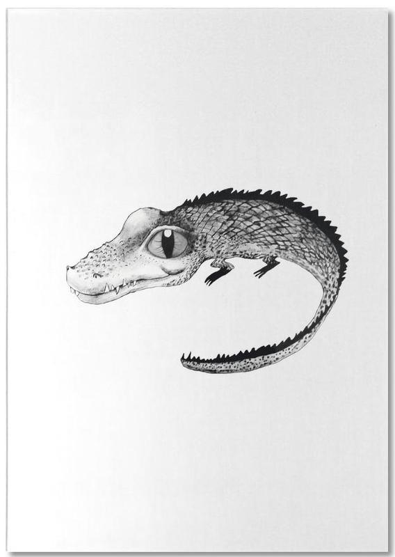 Noir & blanc, Art pour enfants, Crocodile bloc-notes