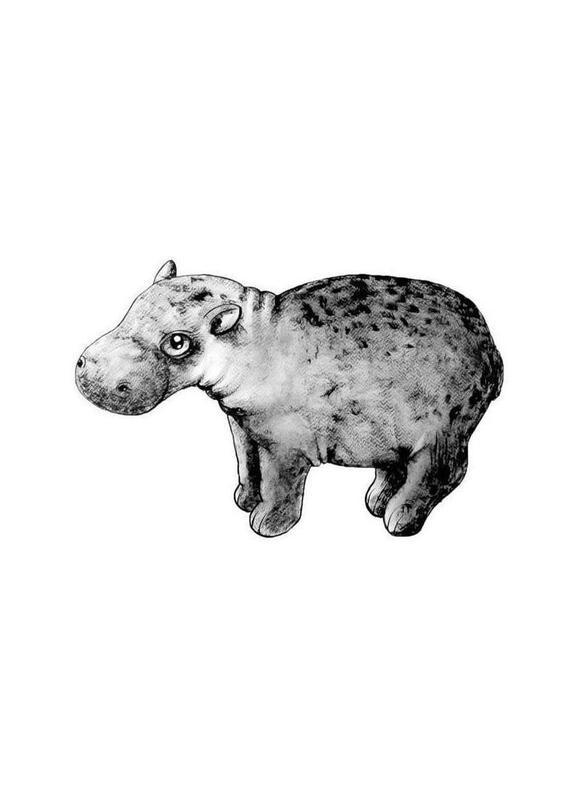 Hippo -Leinwandbild