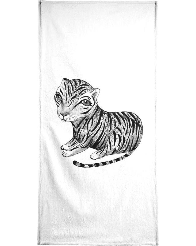 Tigres, Art pour enfants, Noir & blanc, Tiger serviette de bain