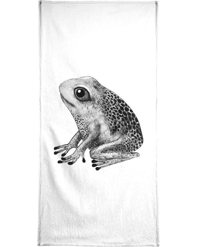 Art pour enfants, Grenouilles, Noir & blanc, Frog serviette de bain