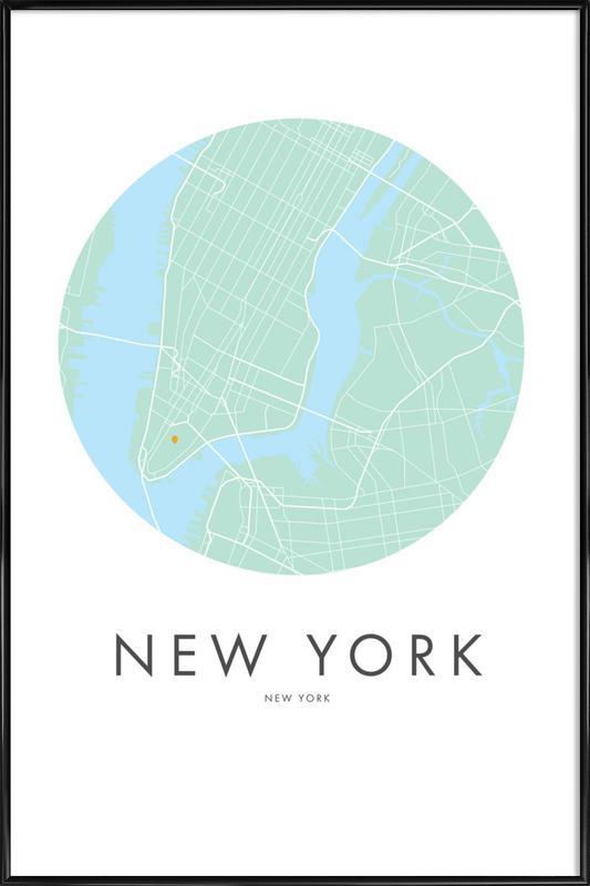 Metropolitan - New York ingelijste poster