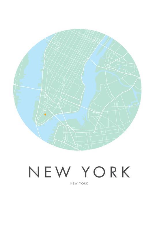 Metropolitan - New York Aluminium Print