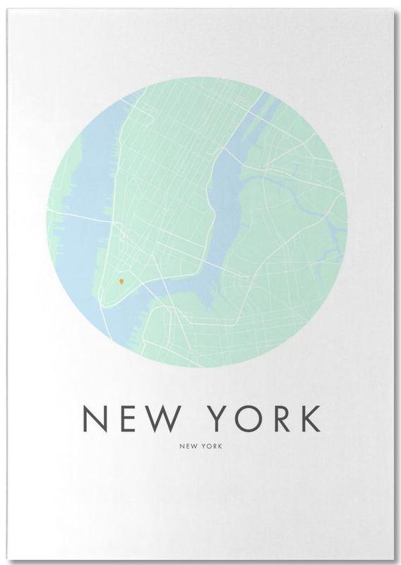 Cartes de villes, New York, Metropolitan - New York bloc-notes