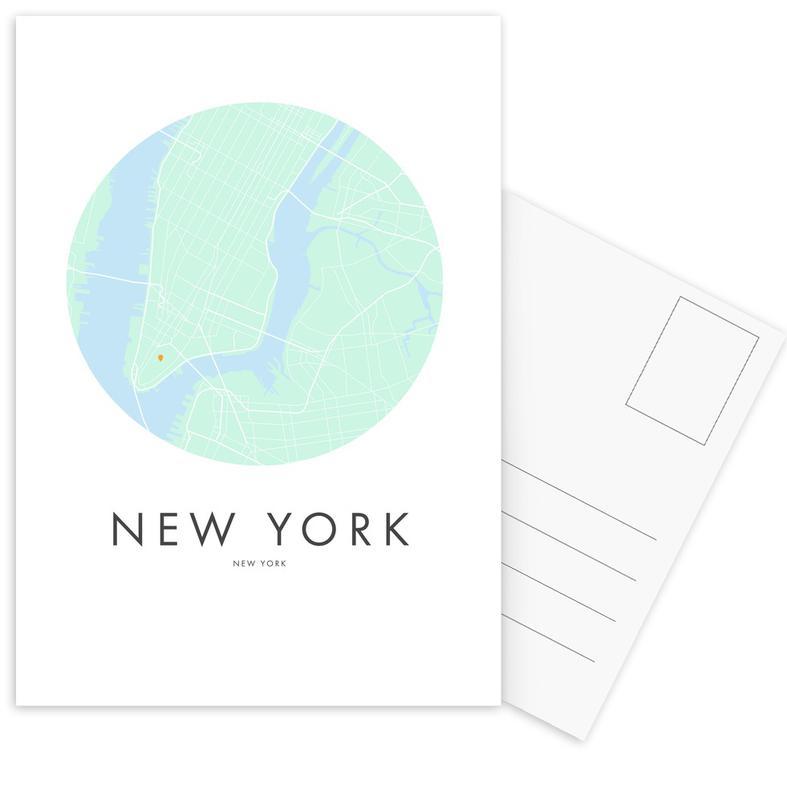 City Maps, New York, Metropolitan - New York Postcard Set