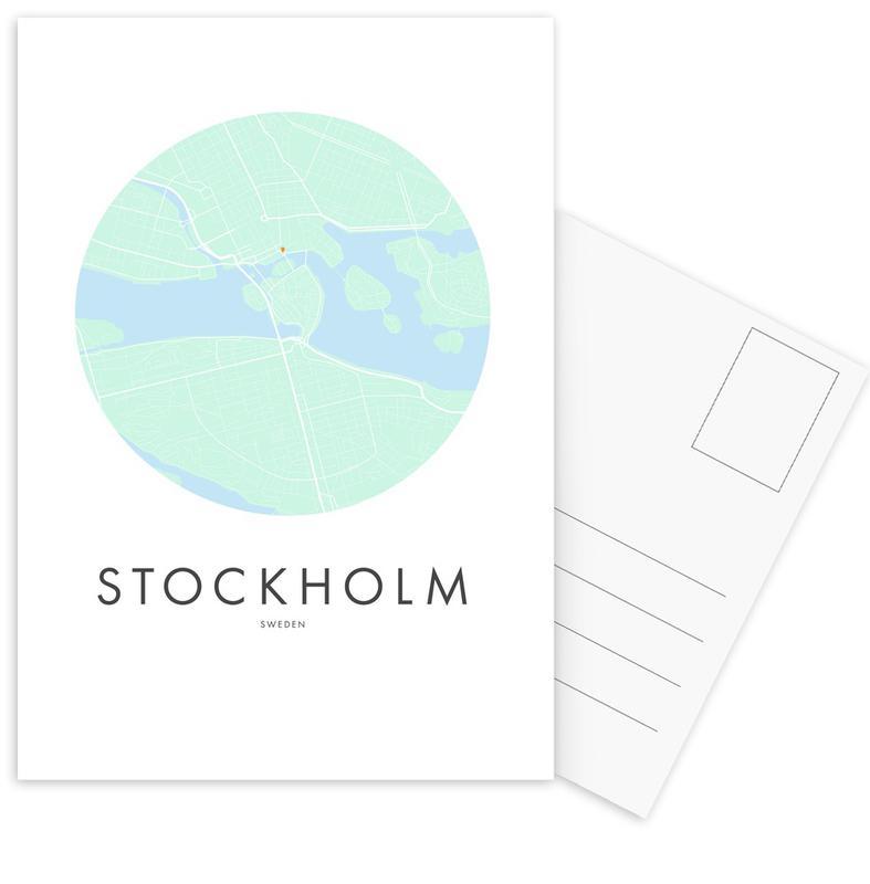 Stadtpläne, Stockholm, Metropolitan - Stockholm -Postkartenset