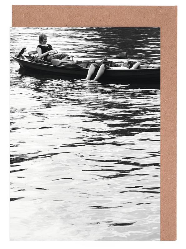 Noir & blanc, Océans, mers & lacs, Paddle cartes de vœux