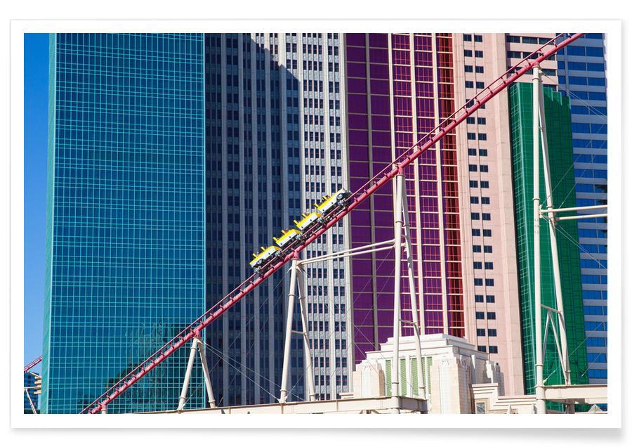 Architectural Details, Las Vegas, Achterbahn Vegas Poster