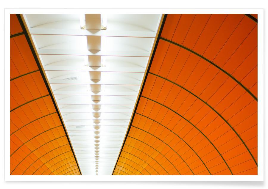 Arkitektoniske detaljer, München, Marienplatz Plakat