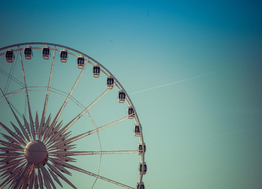 Riesenrad Brighton Canvas Print
