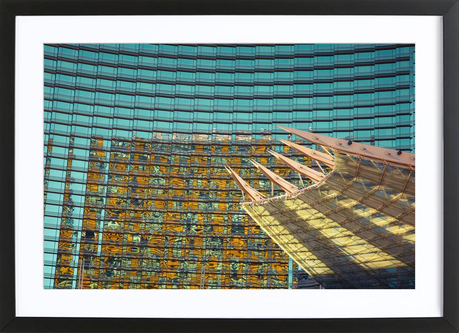 Vegas -Bild mit Holzrahmen