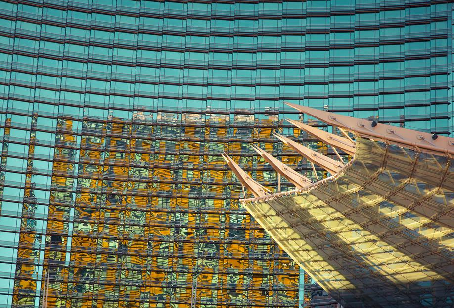 Vegas -Acrylglasbild