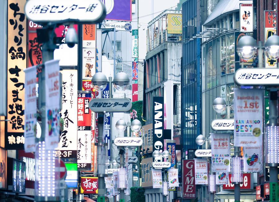 Tokyo canvas doek