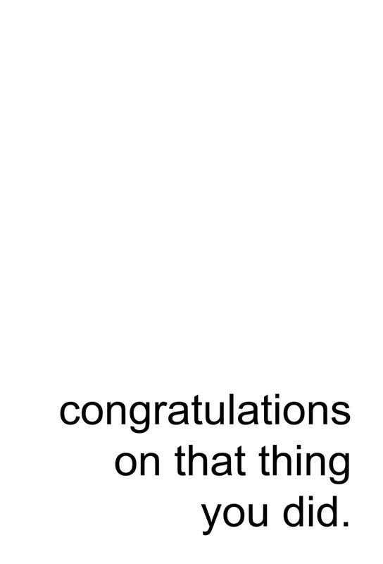 Congratulations on That Thing -Acrylglasbild