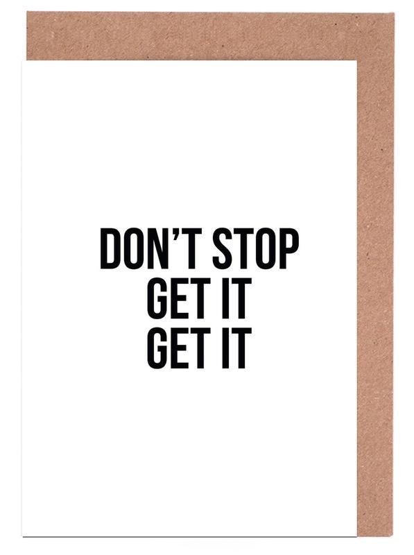 Don't Stop Get It Get It cartes de vœux